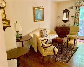 Living room filled with antiques