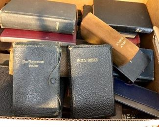 Bibles assorted types and sizes