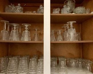 Glassware of all shapes and sizes