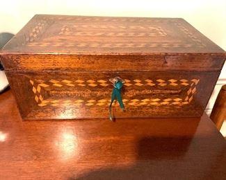 Wooden box inlaid