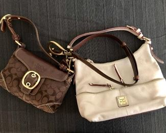 Coach and Dooney and Burke hand bags
