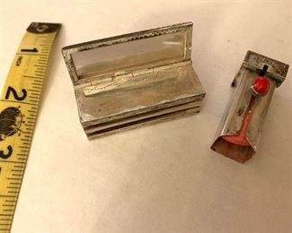 Vintage lipstick holder open