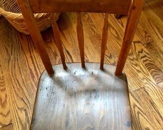Detail antique wooden chair