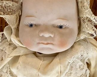 Detail face of doll
