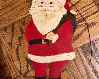 Metal Santa decoration