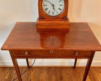 Antique table with inlay