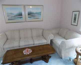 Sofa and Love seat for a nice price! Clean No stains!