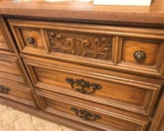 Closer view of the dresser