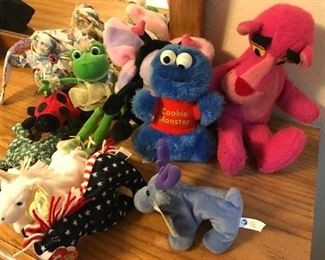 Pink panther, Cookie Monster, Beanie babies and more