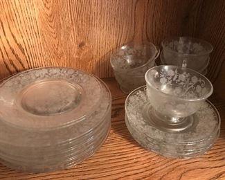 Large Set of Fostoria Depression Glass