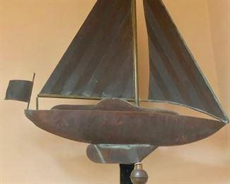 Copper weathervane