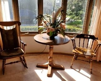 Rocking Chair with Side Table