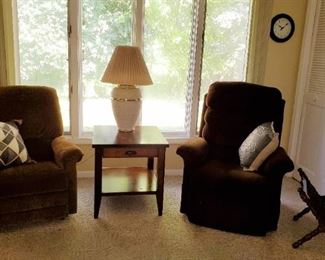 Recliners - End Table - Lamp