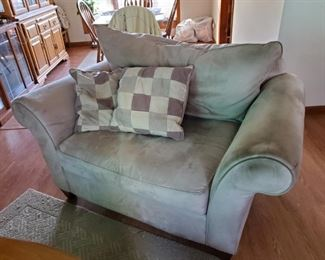 Loveseat with matching chair