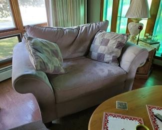 Chair with matching loveseat