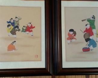 tbs original gouache and ink signed with chop, Beijing Summer Palace Art Gallery