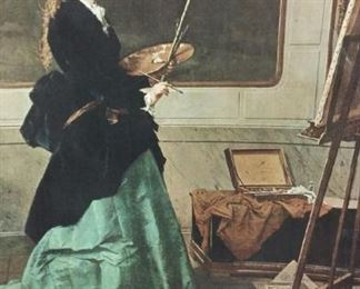 tbs reproduction on canvas Victorin woman in her studio