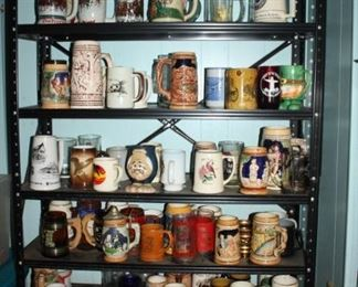 SOOO very many wonderful steins.  60 year collection.