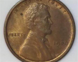 1909-VDB Lincoln Wheat Cent UNC