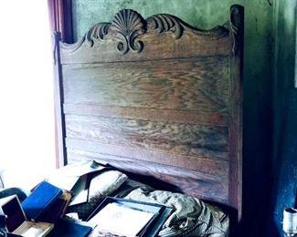 Antique oak bed. CA. 1800s