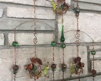 Glass bead hanging mobile