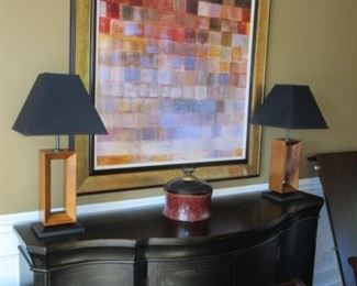 lamps and art