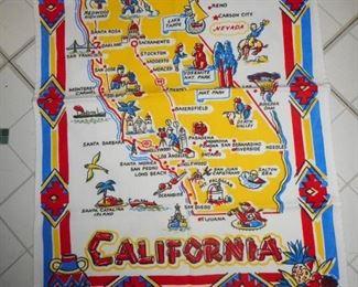 Vintage Printed California Kitshy Towel