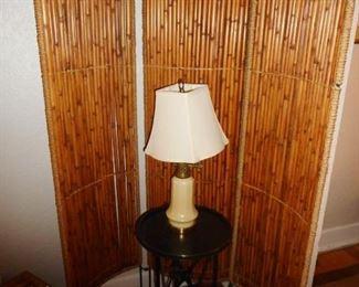Mid Century Bamboo Room Divider