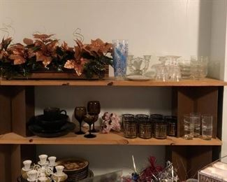 Glassware from several decades