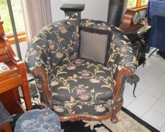 Antique barrel chair