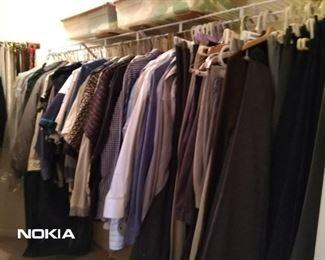 His clothes!