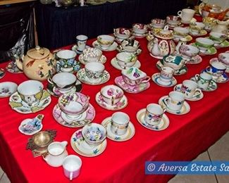 Tables of Ceramics - Tea Cup Sets
