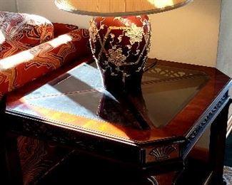 Quality shelf end table & lamp