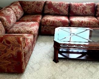 Two piece sectional & coffee table
