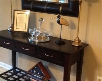 Serving Three Drawer Table w/ Mirror (sold separately)
