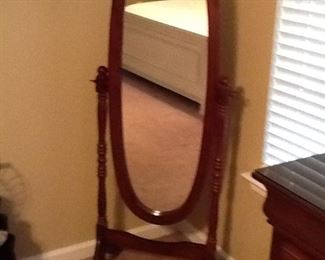 Cherry Oval Mirror