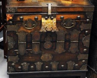 Chest with brass clasp