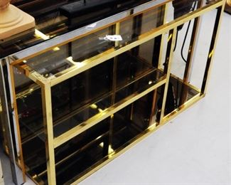 Brass shelving