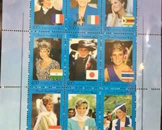 """The Princess Diana Collection: Celebrating the Life of the People's Princess,"" stamp collection by Mystic Stamp Co., 1997, in official binder"