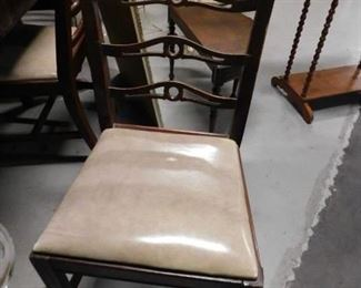 1920's Elk Furniture Cherry 9 pc dining room set Table with built-in leaf 6 chairs, buffet & china cabine