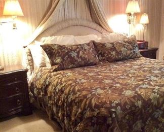 King Size Bed and All Bedding