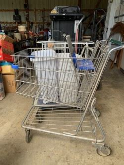 full size shopping cart