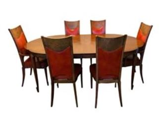 Mastercraft Dining Set - Expanding Table with 6 Chairs.