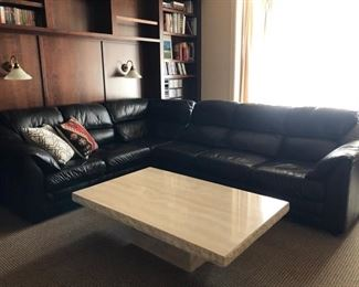 Ebony Leather Sectional sofa from the Leather Factory