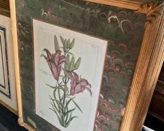 Set of 4 floral prints