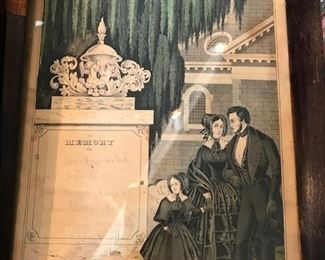Victorian mourning prints- N. Currier