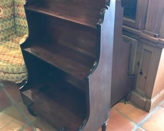 set of matching bookcases