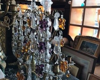 Tabletop candelabras- two different pair.