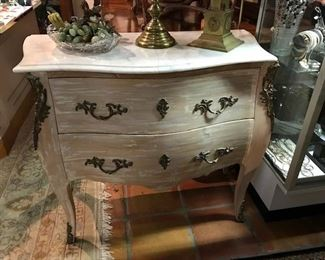 Chest with repaired marble top