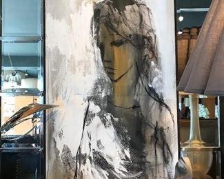 "Gino Hollander acrylic painting  20"" W X 48"" H"